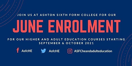 ASFC June Enrolment for Adults tickets