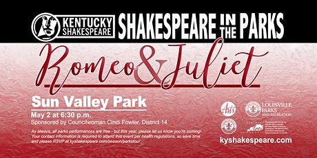 Shakespeare in the Parks Romeo and Juliet tickets