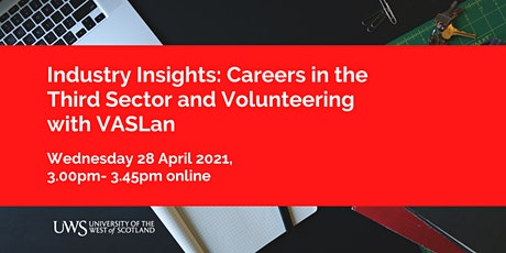 Industry Insights: Careers in the Third Sector and Volunteering tickets
