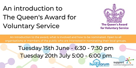 An introduction to the Queens Award for Voluntary Service tickets
