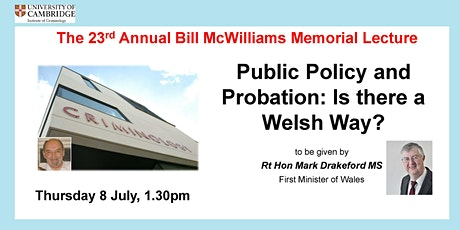 Public Policy and Probation: Is there a Welsh Way? tickets