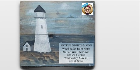 Wood Pallet Lighthouse at Station Grill, Lewiston tickets