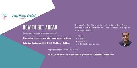 How To Get Ahead - Get Ahead - Success & Happiness On Your Own Terms tickets