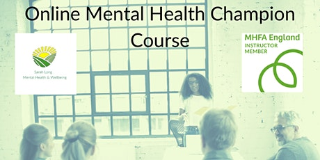 Mental Health Champion Online - 2 Sessions - Mon PM tickets