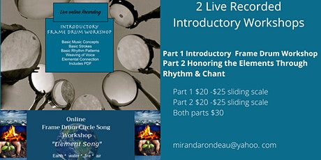 Frame Drum Introductory Workshop RECORDINGS tickets