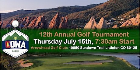 12th Annual COWA Charity Golf Outing tickets