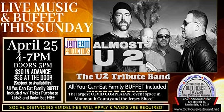Almost U2: A Tribute to U2 @ OUR HOUSE TAVERN tickets
