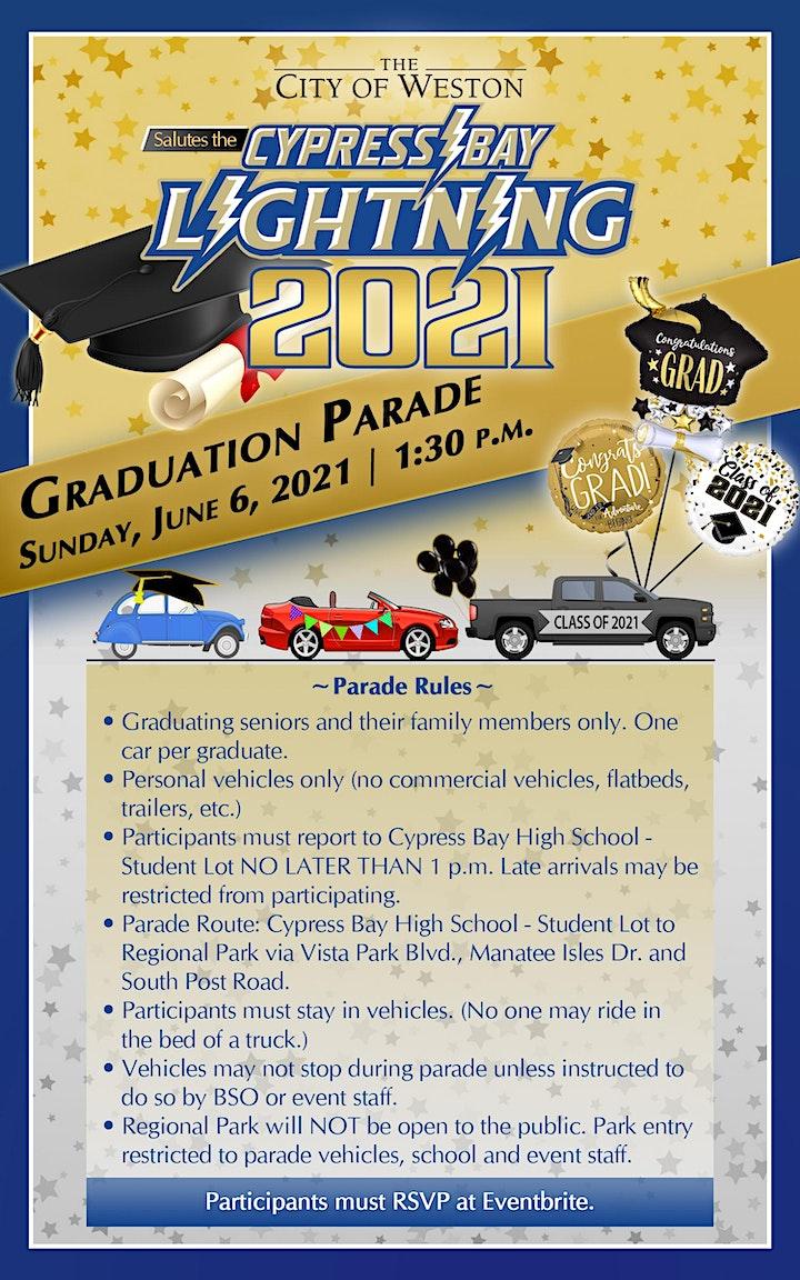 Cypress Bay High School Class of 2021 Graduation Parade image
