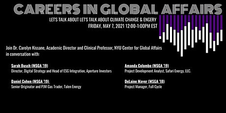 Careers in Global Affairs - Let's Talk about Climate Change and Energy tickets