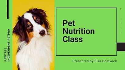 Pet Nutrition Class tickets