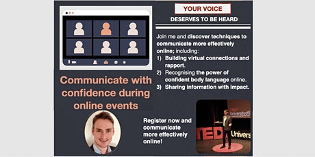 How to communicate with confidence during online events (ONLINE) tickets