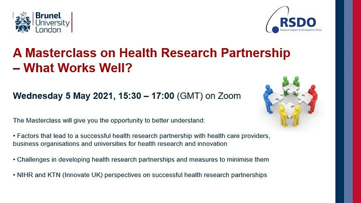 A Masterclass on Health Research Partnership - What Works Well? image