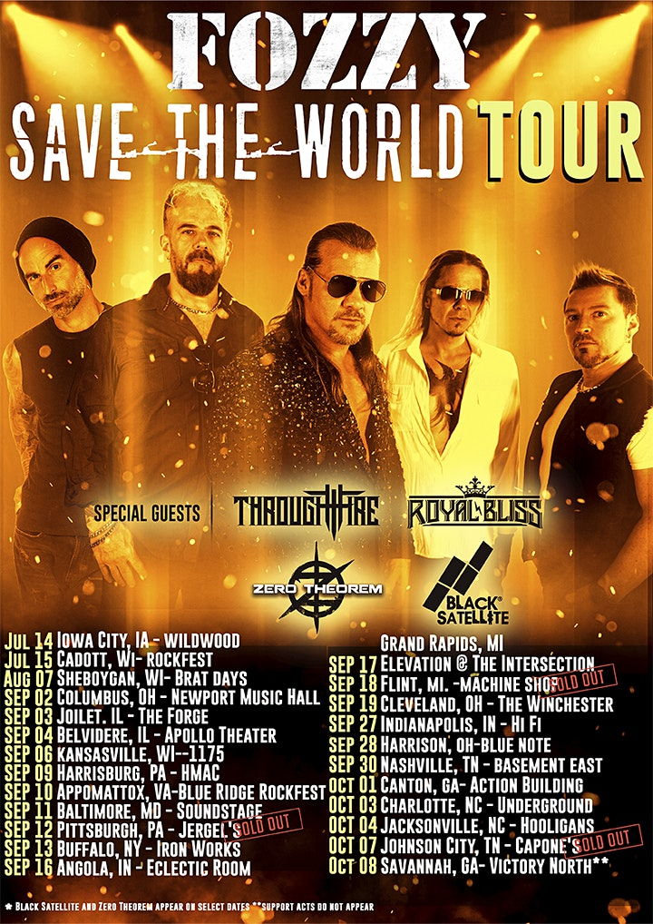 FOZZY | SAVE THE WORLD TOUR image