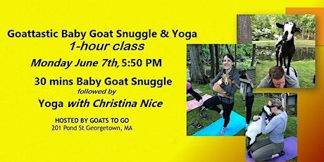 Goattastic Monday: Goat Snuggle & Yoga, Combo Class tickets