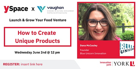 Launch & Grow Your Food Venture| How to Create Unique Products tickets