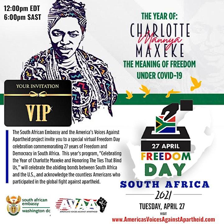 South Africa Freedom Day : Celebrating the  Year of Charlotte Maxeke image