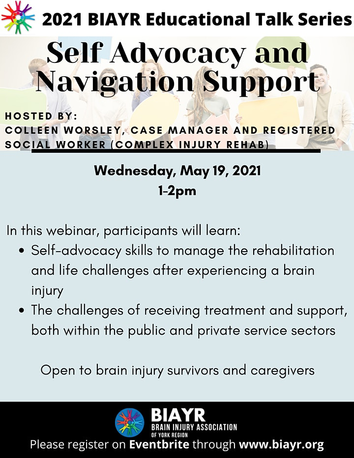 Self Advocacy and Navigation Support - 2021 BIAYR Educational Talk Series image