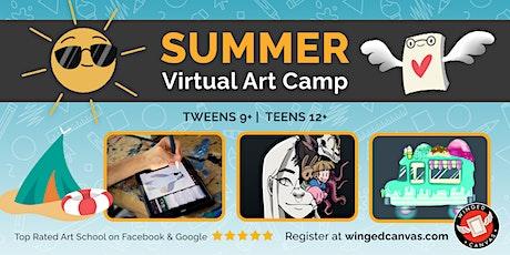 Digital Art Camp (9+) - LIVE Summer Virtual Art Camp tickets