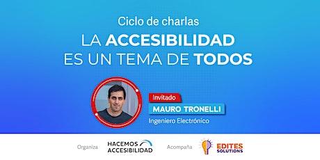 """Ciclos de Charlas """"La Accesibilidad es un tema de todos"""" entradas"""