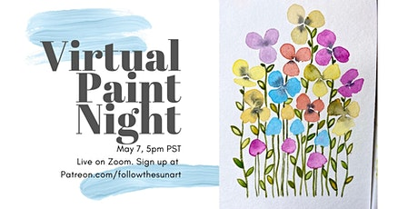 Virtual Paint Night: Watercolor Flowers! tickets