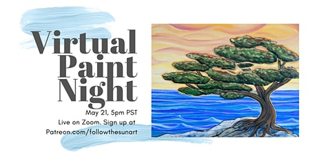 Virtual Paint Night: Coastal Cypress! tickets