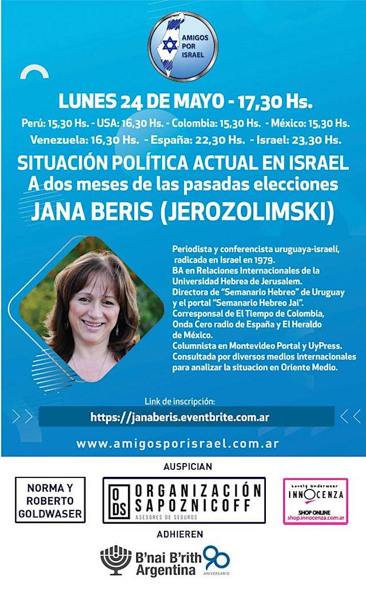 Imagen de SITUACION POLITICA EN ISRAEL: A 2 MESES DE LAS ELECCIONES CON JANA BERIS