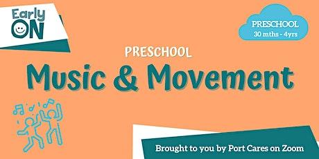 Preschool Music & Movement tickets