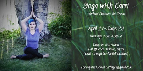 Yoga with Carri tickets