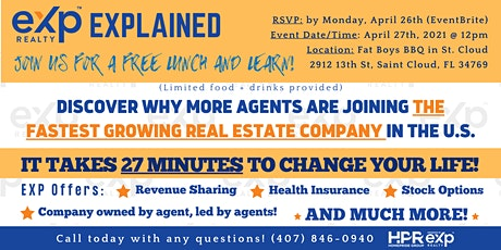 EXP Explained | Join Us for a FREE Lunch & Learn 4/27!! tickets