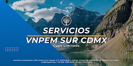 VNPEM Sur CDMX 2 Servicios Domingo 16 de Mayo boletos