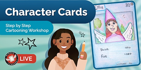 Cartooning Workshop - Step by Step Lesson for Kids (Character Cards) tickets