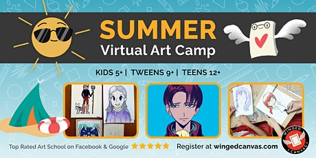 Anime Drawing Camp (9+) - LIVE Summer Virtual Art Camp tickets