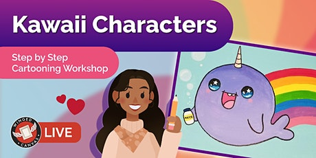 Cartooning Workshop - Step by Step Lesson for Kids (Kawaii Characters) tickets