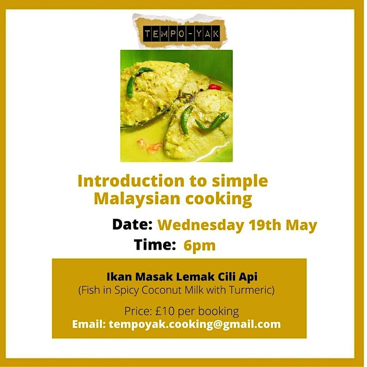 Zoom Cooking - Simple Malaysian Cuisine image
