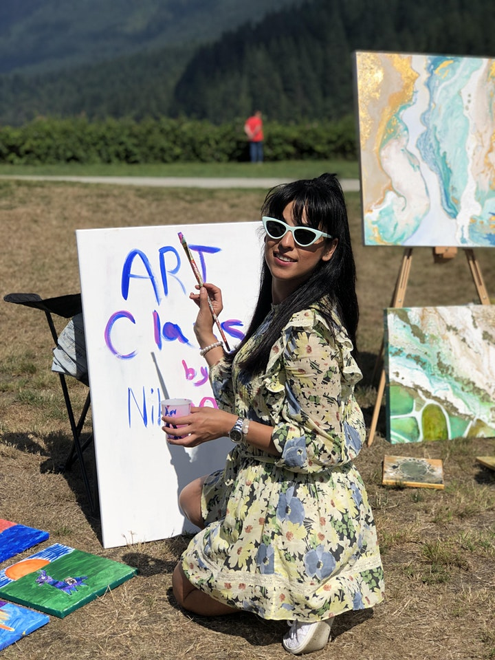 Mix media art & Picnic with the young artists (age 9-13) image