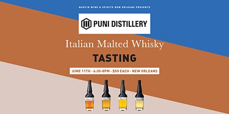 Puni Distillery Italian Malted Whisky Tasting: New Orleans tickets