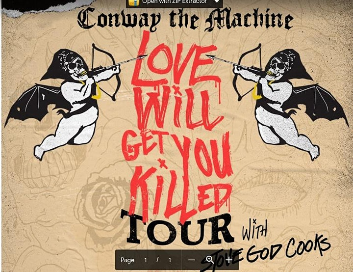 CONWAY THE MACHINE - LOVE WILL GET YOU KILLED TOUR image