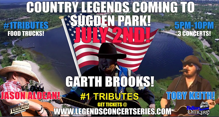 Legends Concert  Series 7-2 Jason Aldean,Toby Keith & Garth Brooks TRIBUTES image