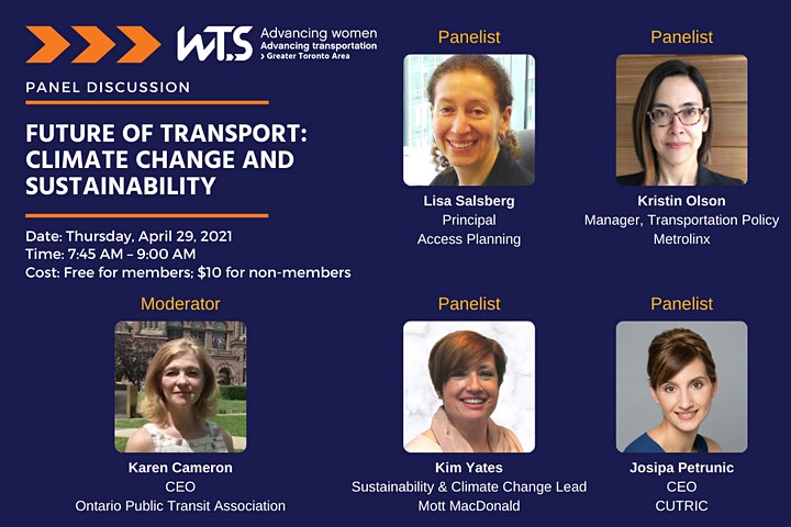 WTS Toronto Future of Transport: Climate Change and Sustainability Panel image