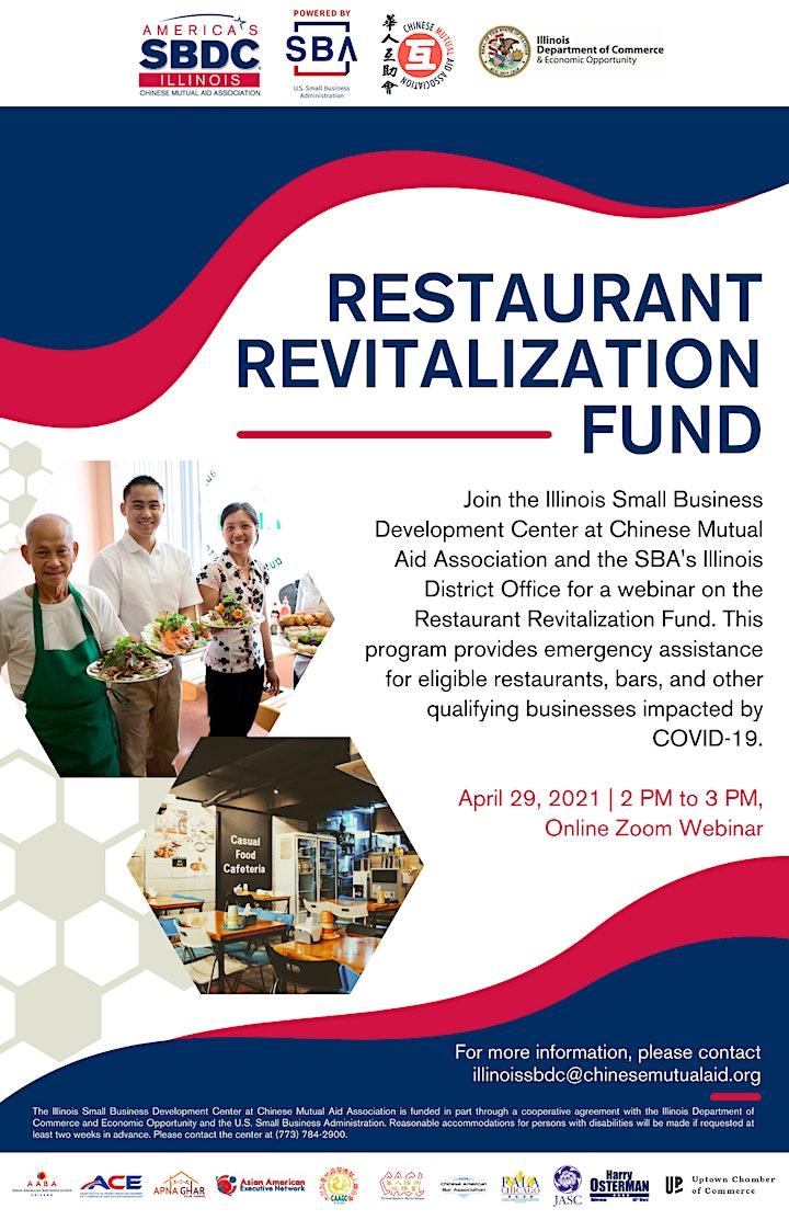 Restaurant Revitalization Fund Webinar image