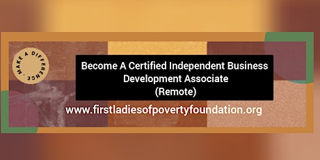 Become a Certified Independent Business Development Associate (Remote) tickets