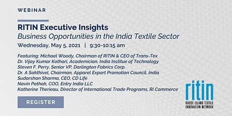 RITIN Executive Insights Business Opportunities in the India Textile Sector tickets