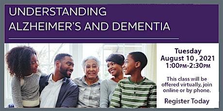 VIRTUAL ALZHEIMERS EDUCATION - Understanding Alzheimer's and Dementia tickets