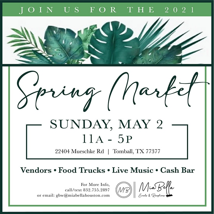 2nd Annual Spring POP Up Market image
