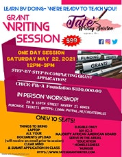 LEARN BY DOING-GRANT WRITING SESSION tickets