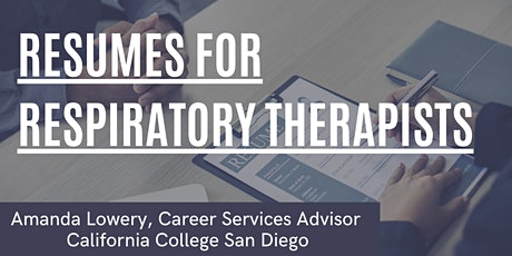 Resumes for Respiratory Therapists tickets