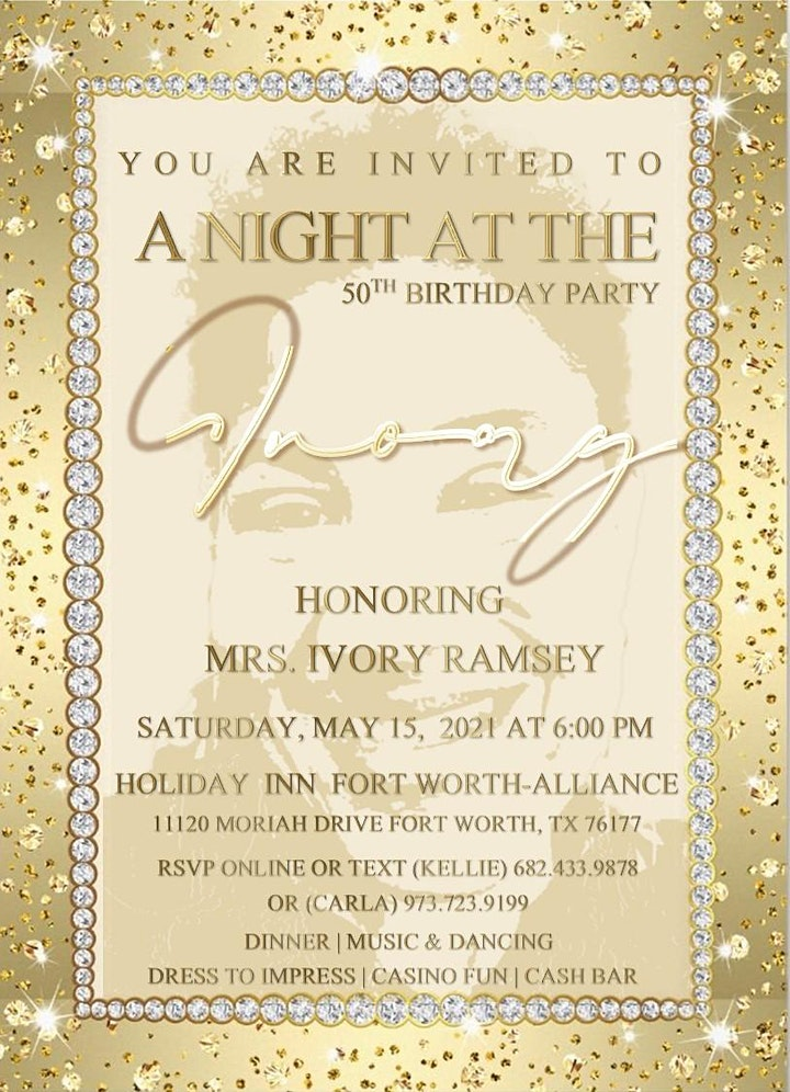 A NIGHT AT THE IVORY 50TH BIRTHDAY CELEBRATION image