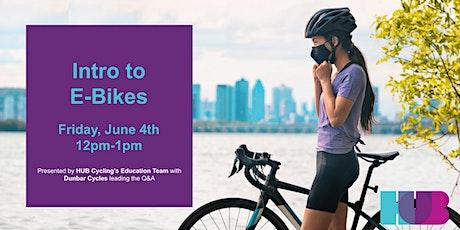 Intro to E-Bikes tickets