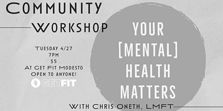 YOUR [MENTAL} HEALTH MATERS tickets