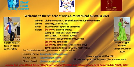 Welcome to the 9th Year of Miss and Mister Deaf Australia 2021 tickets